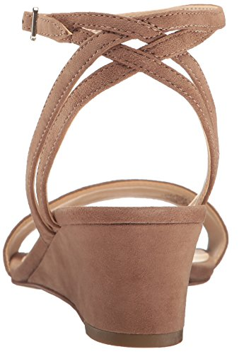 Pictures of Nine West Women's Lewer Suede Wedge Sandal 8 M US 8