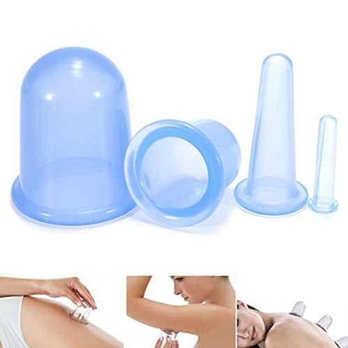 セルライトカッピングセット療法マッサージGuasha吸引真空マッサージカップ美容シリコーンカッピング
