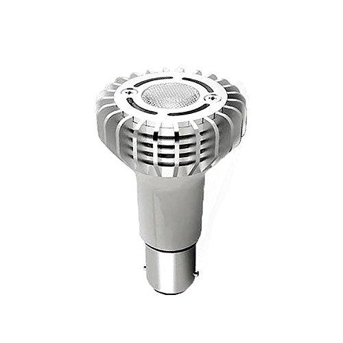 (TriGlow # 1383 Miniature Reflector Elevator Led Light Bulbs, 3-Watt 12V BA15S Base Lamps, CREE 3000K (Warm White) 12-Pack)