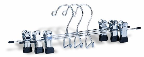 Organize It All Add-On Chrome Skirt and Plants Clothing Hanger with Clips (3 Pack)