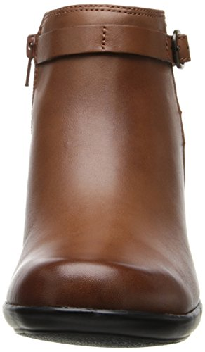 Clarks Malia Hawthorn Damen Beige Leder Mode-Stiefeletten Neu EU 41