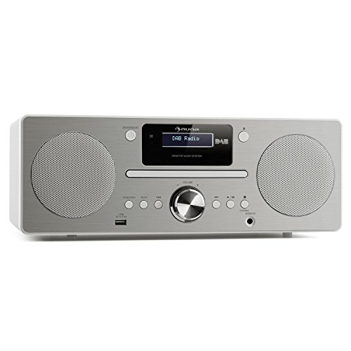auna Harvard stereo compact systeem Special Edition, microsysteem met DAB/DAB + tuner, 2 x 10 W RMS, Bluetooth 3.0, USB…