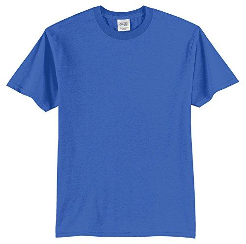 Port & Company Mens 50/50 Cotton/Poly T-Shirt PC55 -Royal - Royal Tee Mens