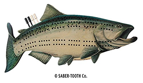 (Chinook Salmon Fish Cribbage Board - Fun Fish & Animal Shapes, Card Games)