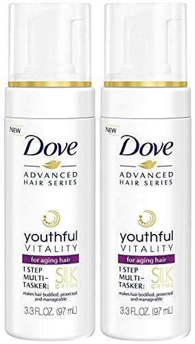 Dove Advanced Hair Series Silk Creme, Youthful Vitality, 3.3 Ounce (Pack of 2)