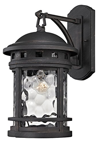 Costa Mesa 1 Light Outdoor Wall Sconce in Weathered Charcoal ()