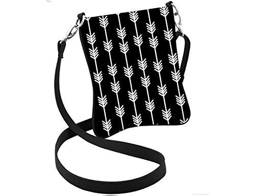 Hipster Trendy Design Black Boho Purse Bag Arrow Crossbody qX6Fgq