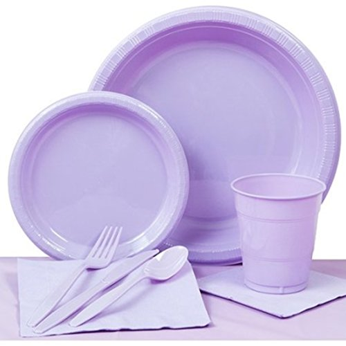 Lavender Party Paper Plates Basic Kit N (Halloween Fiesta Texas)