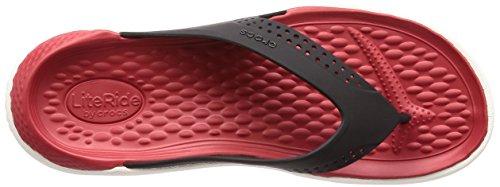Crocs Literide Unisex Flip Negro / Blanco