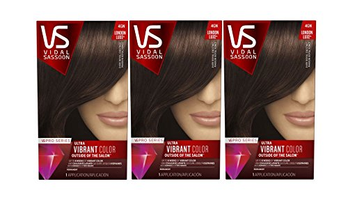 Vidal Sassoon  Pro Series London Luxe Hair Color Kit, 4GN Dark Royal Chestnut,  (Pack of 3)
