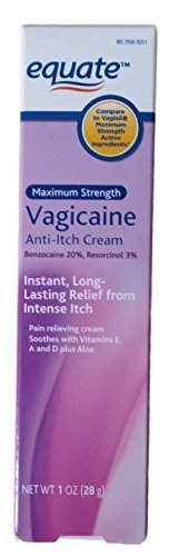 Maximum Strength Vagicaine Anti-Itch Cream, 1oz, By Equate