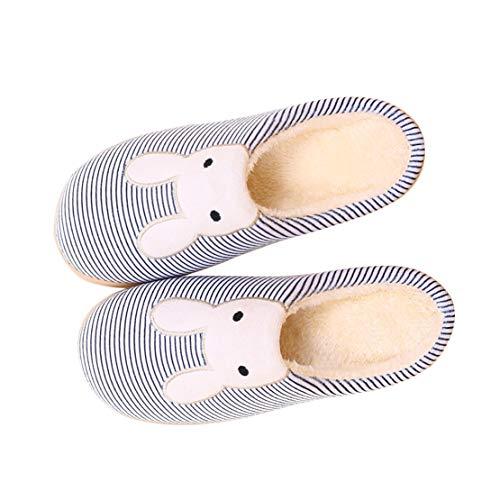Indoor Shoe Rabbit Couples House Warm Slipper navy Men Women WYSBAOSHU Winter 3 wX6qfI6