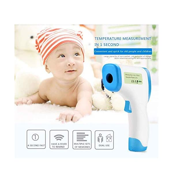 Trkee Forehead Non Contact Infrared Thermometer LCD Digital Temperature Meter 32-43DegC