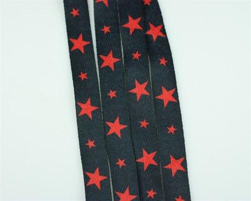 Fashion Shoe Laces Black Stars