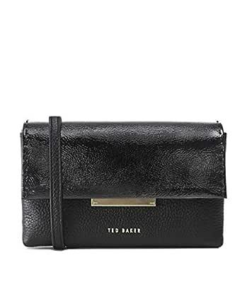 Ted Baker Women's Daphhne Leather Metal Bar Belt Bag Black One Size