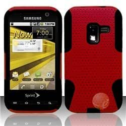 Rubberized HYBRID 9 Cover compatible with Samsung Galaxy Attain 4G R920/D600, Red HYB9