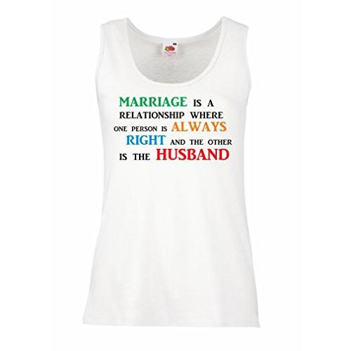 lepni.me Camisetas sin Mangas para Mujer Aniversario de Boda, Deseos Divertidos de Matrimonio (Medium Blanco Multicolor)