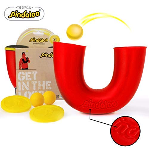pindaloo Skill Toy. The Latest Craze to Hit The U.S.A. for Kids, Teens and Adults. Lots of Fun, Develops Motor Skills, Hand Eye Coordination and Balance. for Indoor and Outdoor Play (Red)