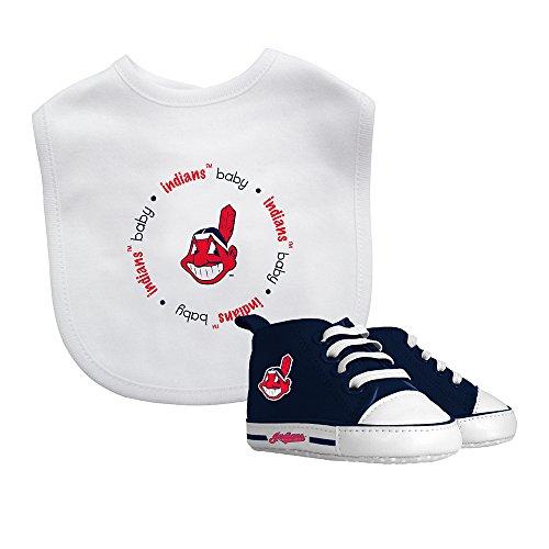 Baby Fanatic Bib & Prewalker Gift Set- Cleveland Indians