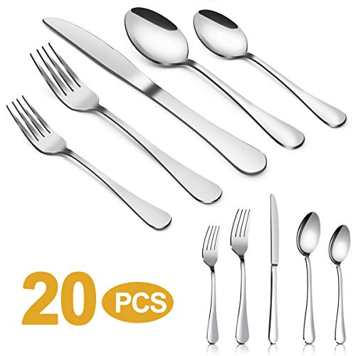Silverware Set,MASSUGAR 20-Piece Silverware