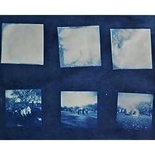 Cyanotype Holga Film Negative Handmade Unique Artwork 8x10 matted to 11x14