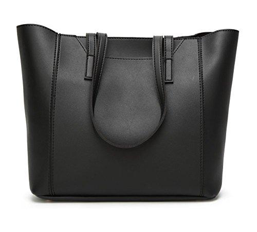 Sac Noir en À Main Set Cuir Messenger Bag YJIUJIU 2Pcs 6Uwqd6