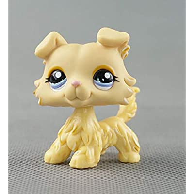 Littlest Pet Shop LPS#1194 Figure Yellow Tan Collie Dog Puppy: Toys & Games