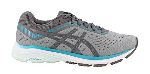 ASICS 1012A029 Women's GT-1000 7 (D) Running Shoe, Stone Grey/Carbon – 8 D US