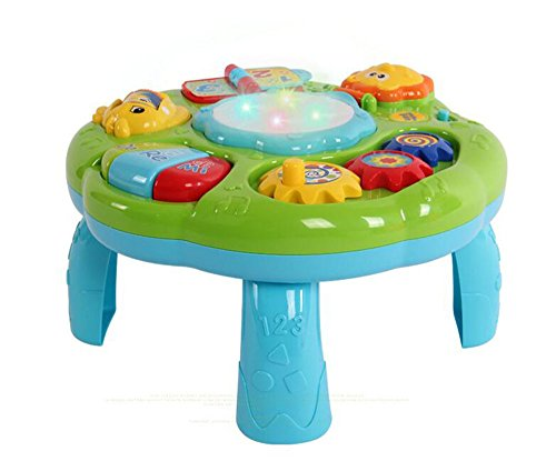Musical Learning Table Baby Electronic Education Toys for 6 month+ Toddlers by Happytime(Green)