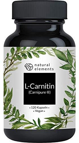 L-Carnitin 3000 - Vergleichssieger 2020* - Premium: Carnipure® von Lonza - 120 Kapseln - Laborgeprüft, hochdosiert, vegan, hergestellt in Deutschland