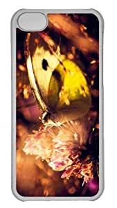 Customized iPhone 6 PC Transparent Case - Yellow Butterfly 2 Personalized Cover