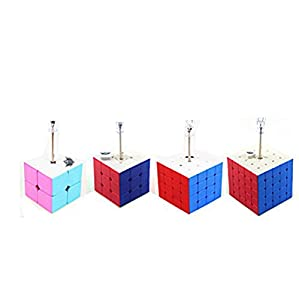 Magic cube Puzzle Packed, Cyclone boys 6-color Speed Puzzle set 2x2,3x3,4x4,5x5 Education Toys By Ting-w