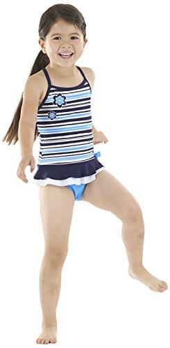 Zoggs Swimming Costume Girls (Zoggs Girl's Henley Swimdress Swimming Costume)