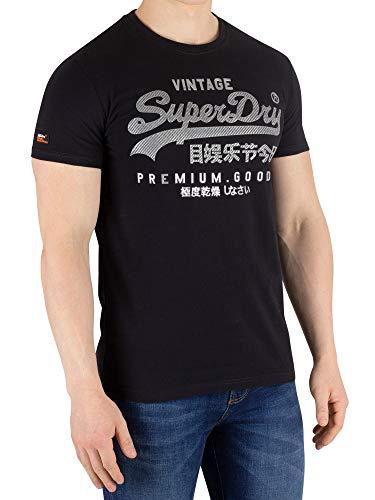 Superdry Men's Vintage Logo Authentic T-Shirt, Black, L ()