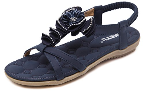 para Ring Gold Sandalias 601 Correa Coloridas Navy Summer Blue Jewels DolphinBanana de Mujer wqTF8xBC