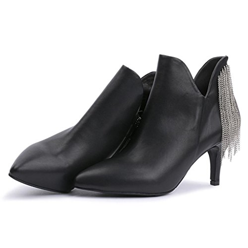 appuntito Tacco BLACK black Stivali Da femminili Le 37 Stivali signore donna nudi alto stivali 40 Stivali Martin ZZxAqIOzw
