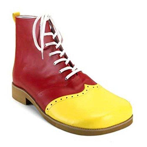 Mens Funtasma Clown-01 Stivali Poliuretano Giallo-rosso