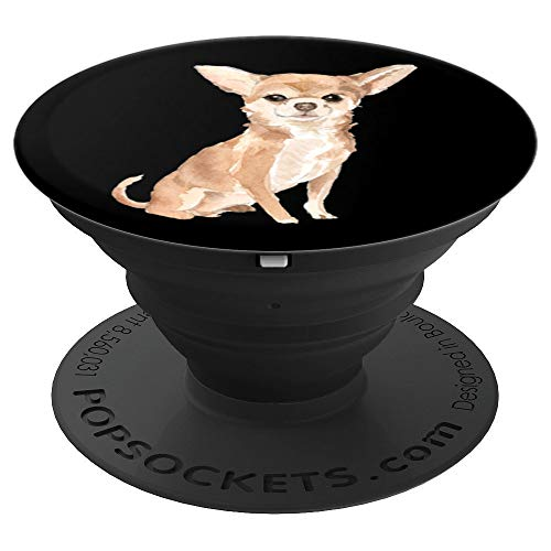 - Cute Chihuahua Watercolor Art   Dog Lover Gift PACJ0899 - PopSockets Grip and Stand for Phones and Tablets