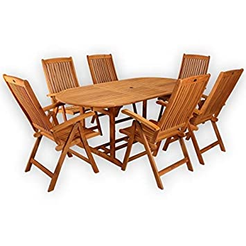 Amazonde Sitzgruppe Belmont Gartenset Sitzgarnitur 6 Personen Holz