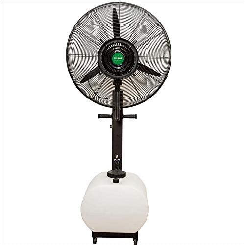 Ventilador de pie Industrial Ventilador de nebulización industrial con humidificador de niebla de enfriamiento oscilante Ventilador de enfriamiento de nebulización de velocidad ajustable para la ofici: Amazon.es: Hogar