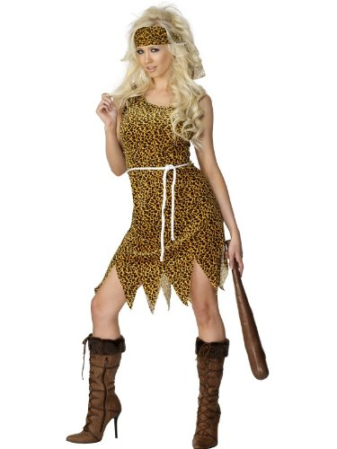Smiffys Ladies Velour Cavewoman Sexy Fancy Dress Costume Size Uk 12/14