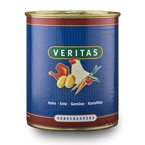 veritas Hundemenü Hundefutter nass – Gourmet Sorte Huhn Ente Gemüse Kartoffeln – Nassfutter für Erwachsene Hunde I…