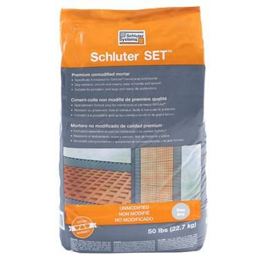 (Schluter Set White 50 lbs Bag UNMODIFIED Thin-SET MORTAR)