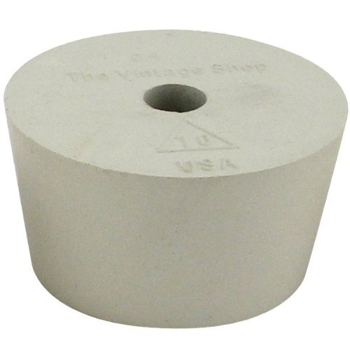Brewcraft HOZQ8-104 #10 Rubber Stopper Airlock Hole, Beige (Rubber With Hole Stopper)