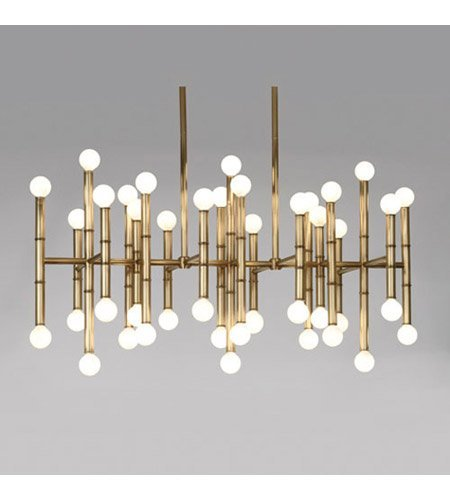 Robert Abbey 687 Chandeliers with Shades, Antique Brass Finish