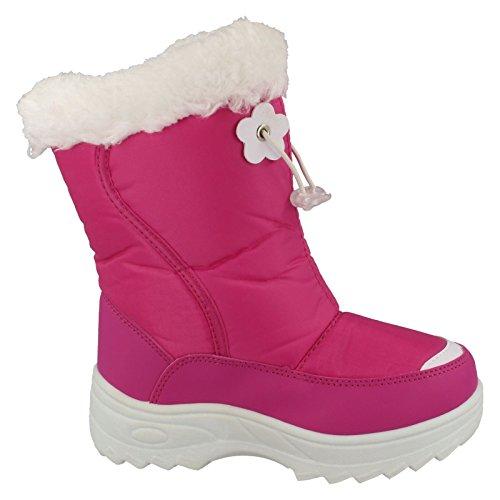 Snow Fun ,  Mädchen Schneestiefel Fuschia/White