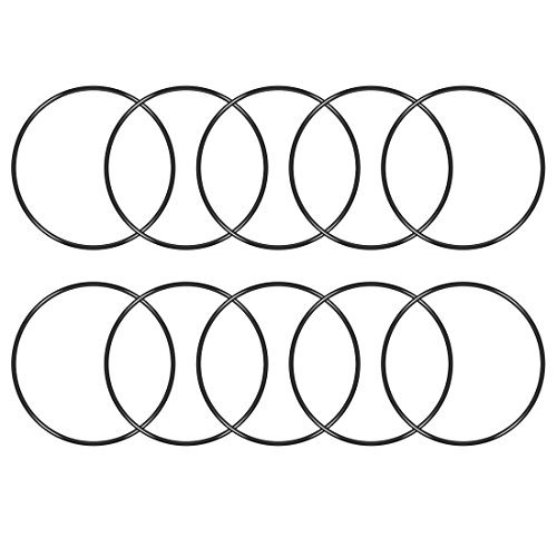 uxcell O-Rings Nitrile Rubber, 157mm Inner Diameter, 165mm OD, 4mm Width, Round Seal Gasket(Pack of 10)