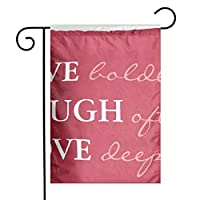 GDjiuzhang Christmas Home Garden Flags,Double Sided Outdoor Decorative Yard Flags(Pink Girly Live Laugh Love Quote Saying)