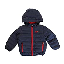Nike Kids Baby Boy's Quilted Jacket (Toddler) Obsidian/University Red 2T Toddler