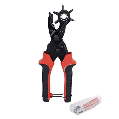 Leather Punch Plier revolves Red 6